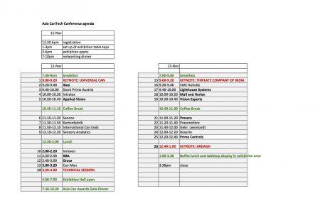 Asia CanTech 2013 Agenda